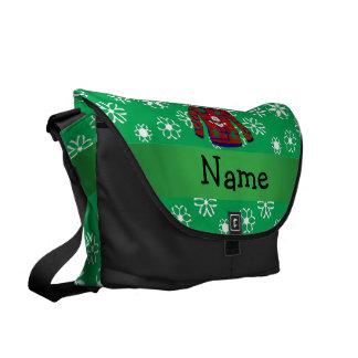 Copo de nieve feo conocido personalizado del suéte bolsa de mensajería
