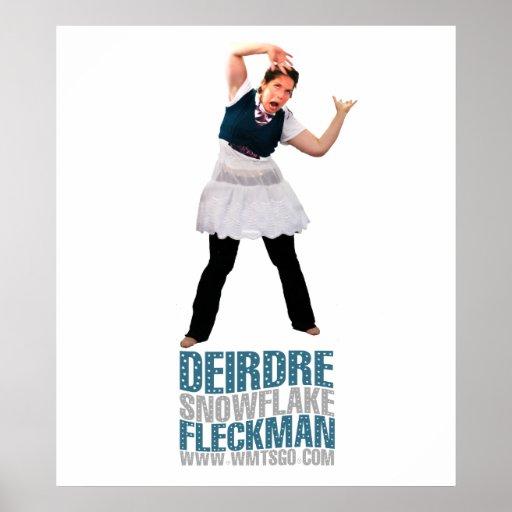 Copo de nieve Fleckman de Deirdre Poster
