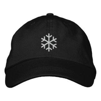 Copo de nieve gorra bordada