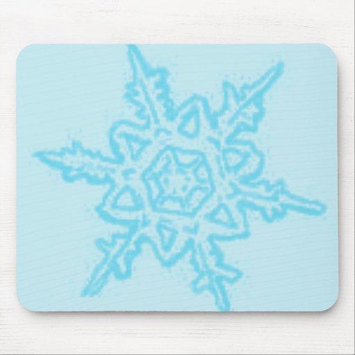 Copo de nieve grande del navidad tapetes de raton