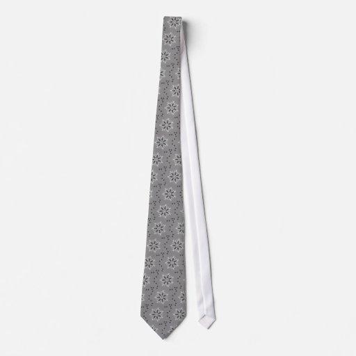 Copo de nieve gris del arte 20 del caleidoscopio corbata