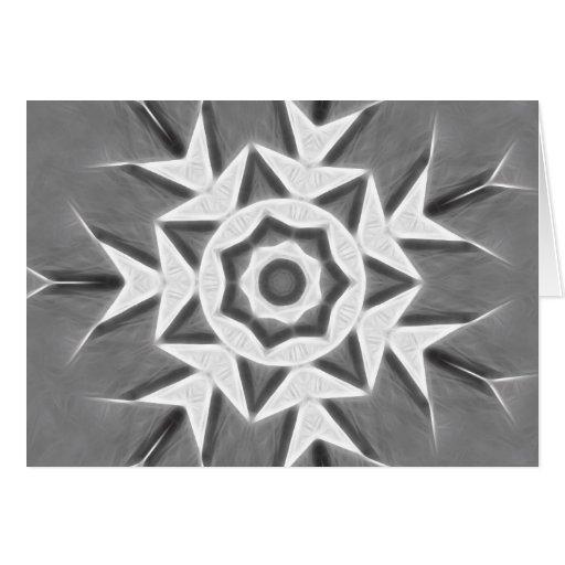 Copo de nieve gris del arte 22 del caleidoscopio felicitacion