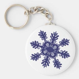 Copo de nieve II Llavero Redondo Tipo Pin