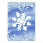 Copo de nieve invitación 12,7 x 17,8 cm
