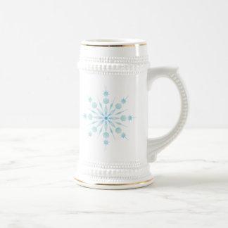 Copo de nieve jarra de cerveza