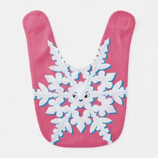 Copo de nieve lindo baberos para bebé
