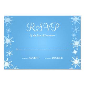 """Copo de nieve moderno RSVP del país de las Invitación 3.5"""" X 5"""""""