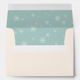 Copo de nieve moderno sobres