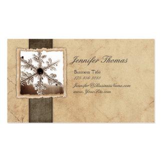 Copo de nieve negro y de marfil del vintage tarjeta de negocio