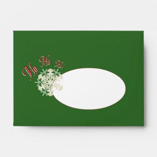 Copo de nieve Papá Noel del navidad del vintage Ho Sobre