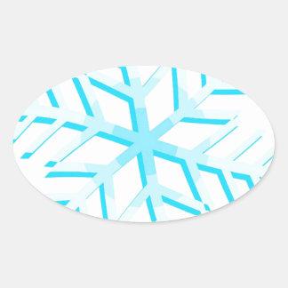 Copo de nieve calcomanías de ovales personalizadas