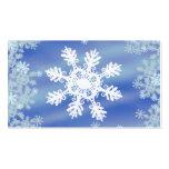 Copo de nieve plantilla de tarjeta de negocio