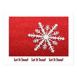 Copo de nieve postales