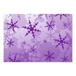Copo de nieve púrpura invitación 8,9 x 12,7 cm