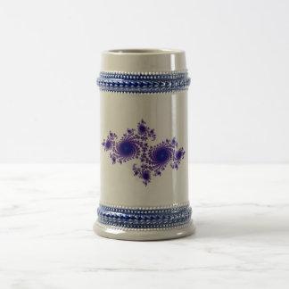 Copo de nieve púrpura jarra de cerveza