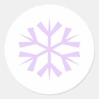 Copo de nieve púrpura maravilloso pegatina redonda