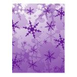 Copo de nieve púrpura postal