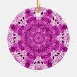 Copo de nieve púrpura/verde adorno para reyes