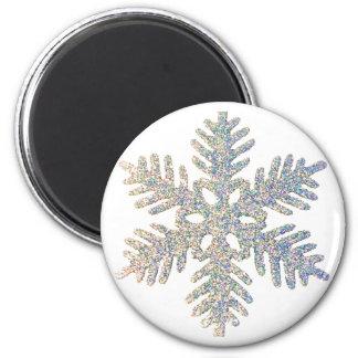 Copo de nieve reluciente imán para frigorífico