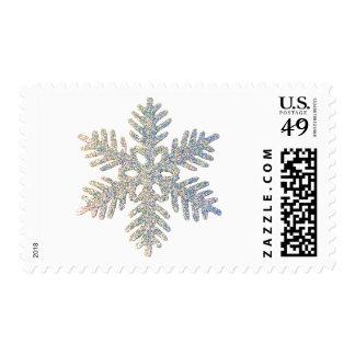 Copo de nieve reluciente sello