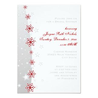 Copo de nieve rojo del gris de plata que casa la comunicados personales