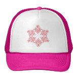 Copo de nieve rosado 8 gorras de camionero