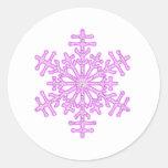 Copo de nieve rosado bonito del navidad del invier pegatina