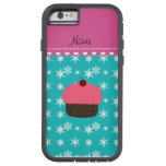 Copo de nieve rosado conocido personalizado de la funda de iPhone 6 tough xtreme