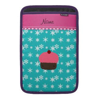 Copo de nieve rosado conocido personalizado de la fundas MacBook