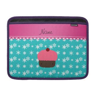 Copo de nieve rosado conocido personalizado de la fundas para macbook air