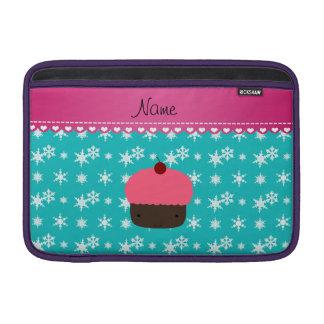 Copo de nieve rosado conocido personalizado de la fundas macbook air