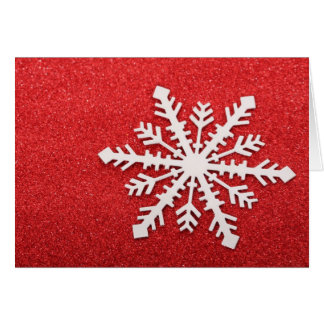 Copo de nieve tarjeta de felicitación