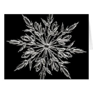 Copo de nieve - tarjeta de Navidad