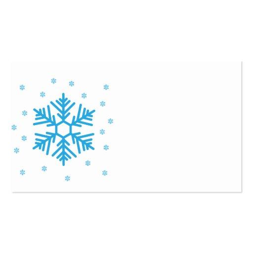 Copo de nieve tarjetas de visita