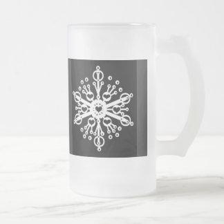 Copo de nieve taza de cristal