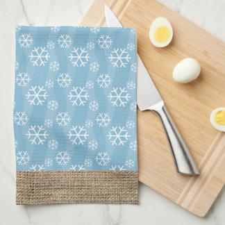 Copo de nieve toallas de cocina