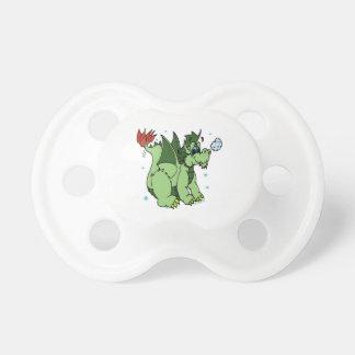 Copo de nieve verde del dragón del baile chupete de bebe