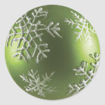 Copo de nieve verde etiquetas