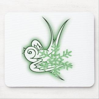 Copo de nieve y diseño del navidad del chirrido - tapete de raton