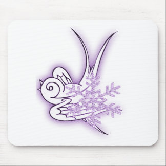 Copo de nieve y diseño del navidad del chirrido - tapetes de ratones