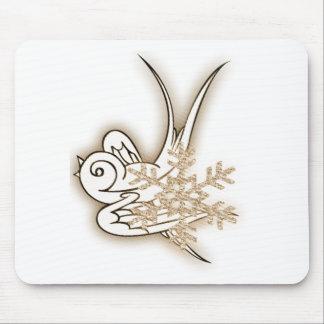 Copo de nieve y diseño del navidad del chirrido - alfombrilla de ratones