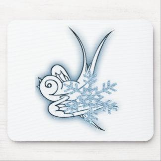 Copo de nieve y diseño del navidad del chirrido - tapetes de ratón