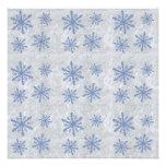 Copos de nieve 1 - Azul y blanco originales Invitacion Personalizada