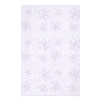 Copos de nieve 1 - Púrpura Personalized Stationery