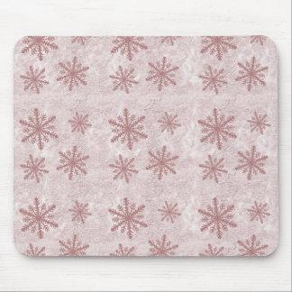 Copos de nieve 1 - Rojo Alfombrillas De Raton