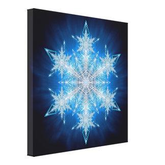 Copos de nieve 2012 - 2 lona envuelta para galerías