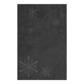 Copos de nieve 4 - Gris oscuro original Papelería
