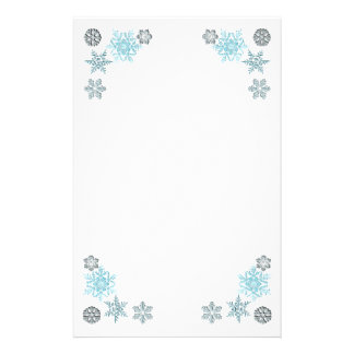 Copos de nieve adornados papelería