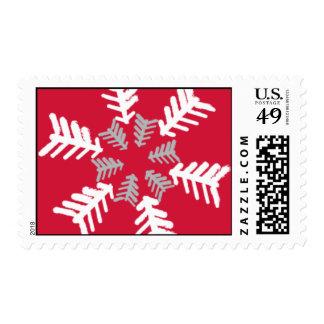 Copos de nieve artísticos sellos