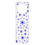 Copos de nieve - azul en blanco colgante para puerta